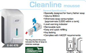 soap dispenser cleanline.mousse
