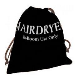HAIR DRYER POUCH--VELVET--NOT ALTEO
