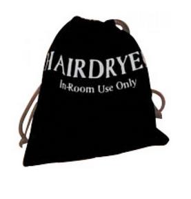 HAIR DRYER POUCH--VELVET