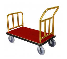 LUGGAGE CART----GOLD---PIC